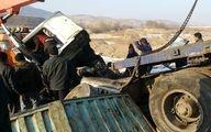 مرگ دلخراش راننده کامیون بعد از تصادف زنجیره ای در زنجان + عکس