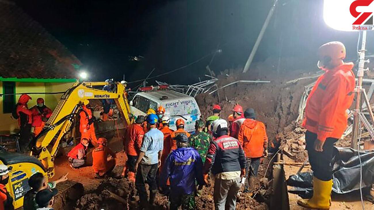 ۱۱ کشته در پی وقوع دو حادثه رانش زمین در اندونزی