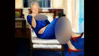 رسوایی جدید خانم کارآموز کاخ سفید / رییس جمهور امریکا با لباس و کفش زنان بدکاره + عکس