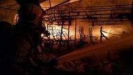 آتش سوزی هولناک در گاراژ قطعات خودروهای اسقاطی خاوران + عکس ها