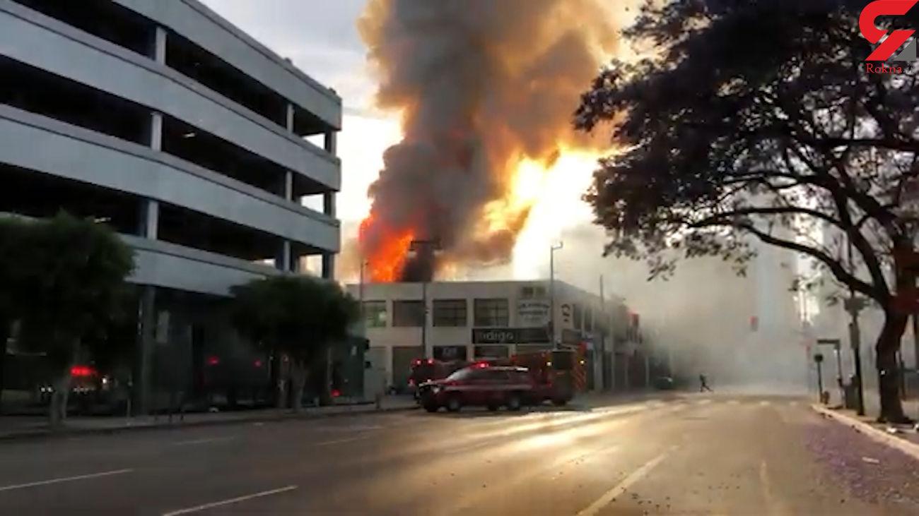 فیلم از تکرار فاجعه  پلاسکو این بار در لس آنجلس + 11 آتش نشان زنده زنده سوختند