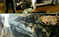 حادثه مرگبار در همدان / یک کشته در پژو له شده + عکس