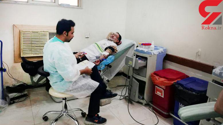 اهدای خون ماموران پلیس آبادان درسومین روز هفته ناجا +تصاویر