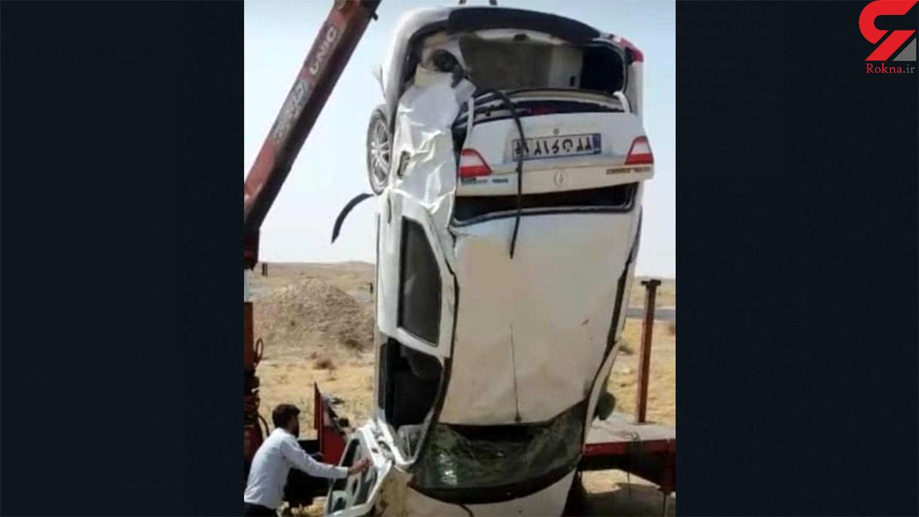 چپ شدن خودروی یک پلیس درجاده ماهشهر به رامهرمز +تصاویر