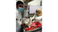تولد نوزاد عجول در آمبولانس ساوه + عکس