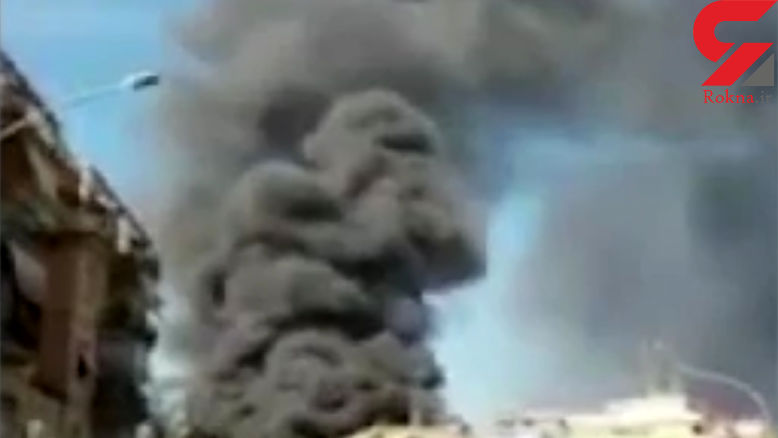 آتشسوزی گسترده در نزدیکی واتیکان + فیلم