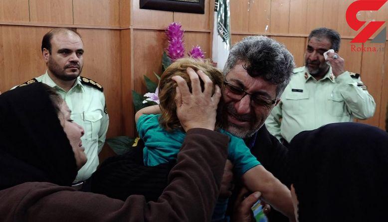 لحظه به آغوش کشیدن پرنیای 3 ساله توسط پدر و مادرش / اشک سردار محمدیان درآمد! !