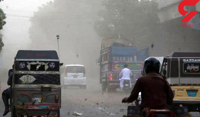25 کشته در توفان شن پاکستان+عکس