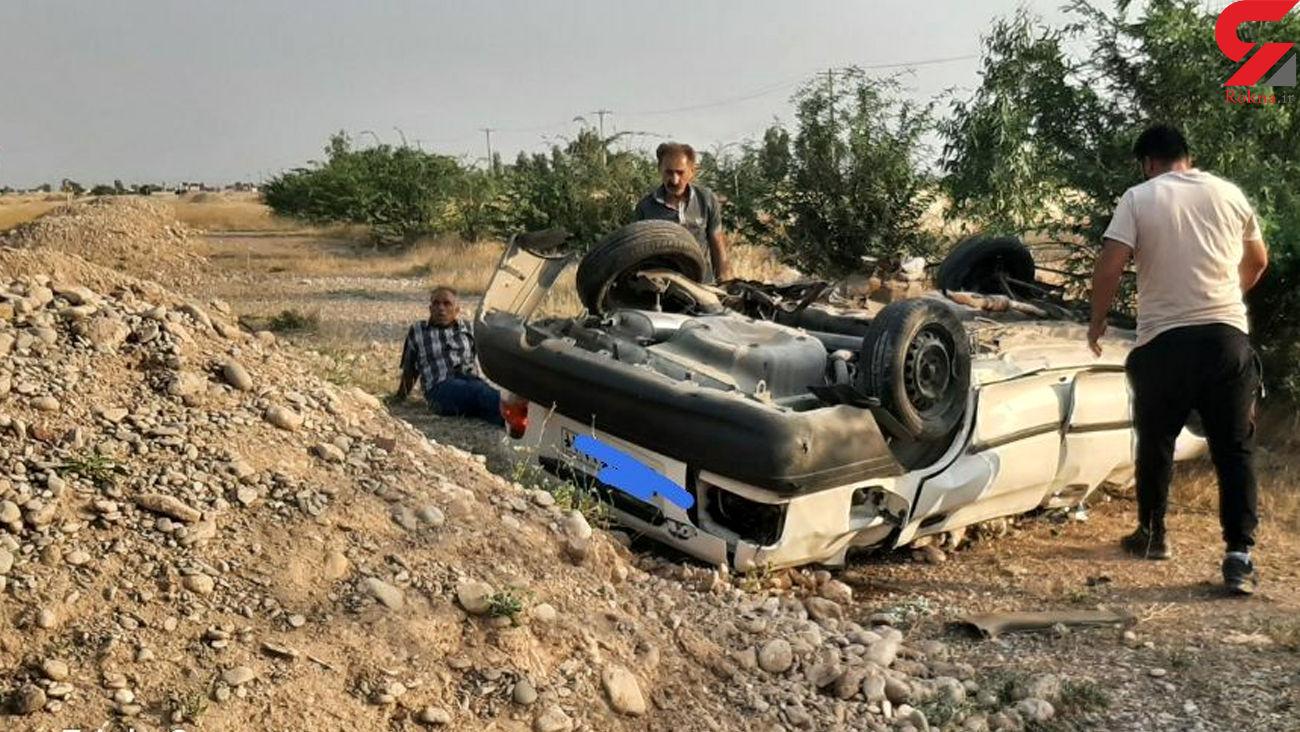 واژگونی یک دستگاه پرایددرمحوردهلران اندیمشک محدود روستای پتک دیناروند