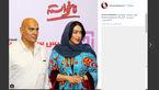 بازیگر زن در کنار اسطوره فیلم های اکشن ایرانی+عکس