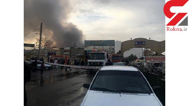 آتش سوزی عظیم در بازارچه قدیمی اصفهان + عکس