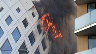 بازگشت آتش سوزی به بیروت / یک مرکز تجاری طعمه حریق شد + عکس