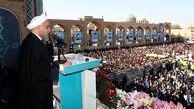 ماجرای شعار دادن در زمان سخنرانی روحانی در جمع مردم یزد چه بود؟+ فیلم
