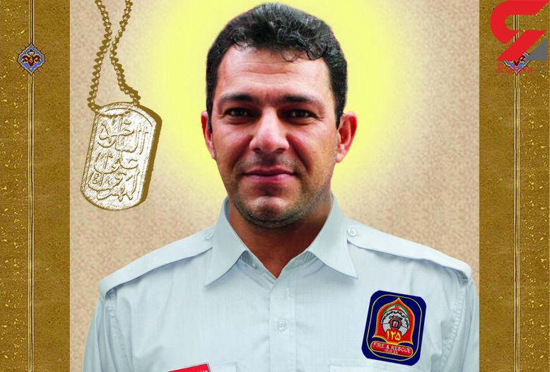عاشقان حسینی پیکر آتشنشان فداکار تهرانی را تشییع کردند + عکس