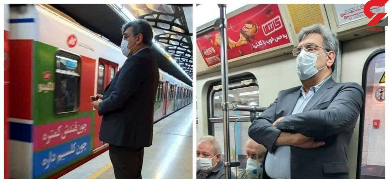 شهردار تهران  با مترو به محل کار رفت +عکس