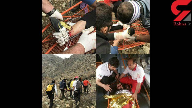 عملیات هوایی برای نجات مرد کوهنورد در بند یخچال تهران + عکس
