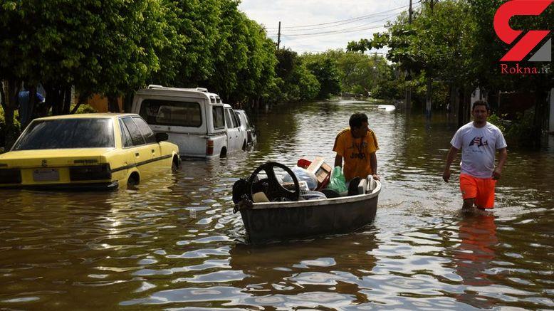جاری شدن سیل در پاراگوئه+تصاویر