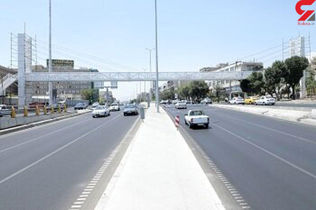 پل عابر پیاده گیشا بهرهبرداری شد