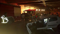 سقوط خودروی از روگذر ۲ مصدوم برجای گذاشت