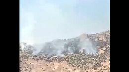 فیلم تلخ/ آتش در کوه «حاتم» زاگرس توسط قاچاقچیان ذغال