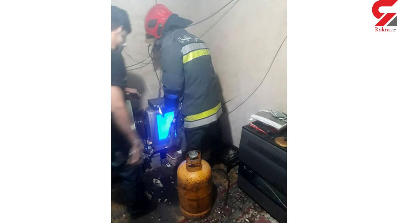 انفجار در اصفهان / نگهبان زنده زنده سوخت + عکس