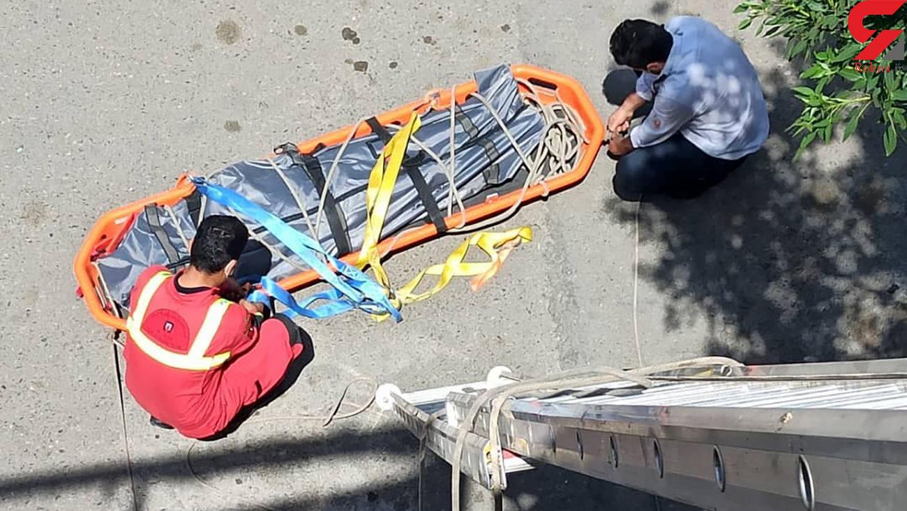 عکس جنازه مرد تهرانی که با برق خشک شد