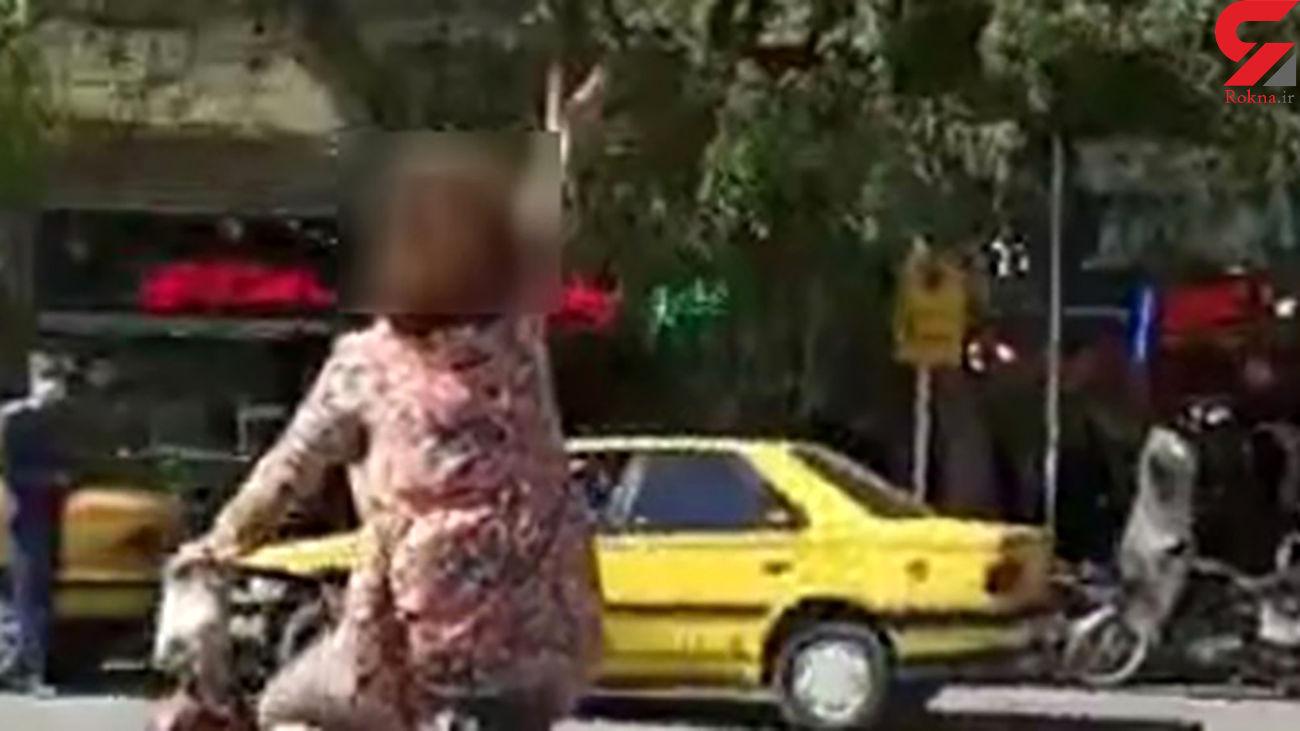 بازداشت زن دوچرخه سوار که در نجف آباد کشف حجاب کرده بود + جزئیات و عکس