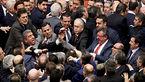 درگیری فیزیکی نمایندگان مجلس ترکیه بر سر عملیات عفرین + عکس