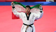نخستین طلای سنگین وزن تکواندو ایران روی گردن سعی رجبی +عکس