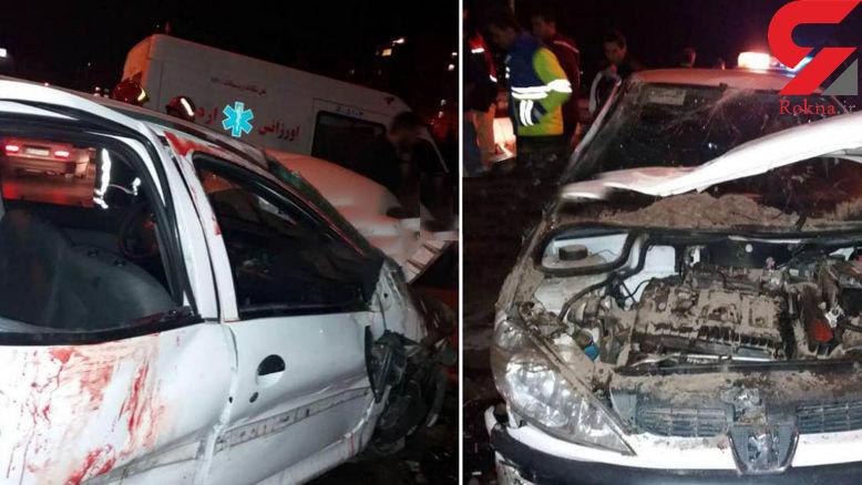 مرگ فجیع پسر اردبیلی در ماشین مچاله + عکس ماشین خون آلود