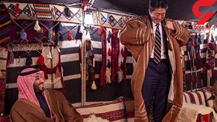 سورپرایز جالب ولیعهد سعودی برای نخستوزیر ژاپن+عکس