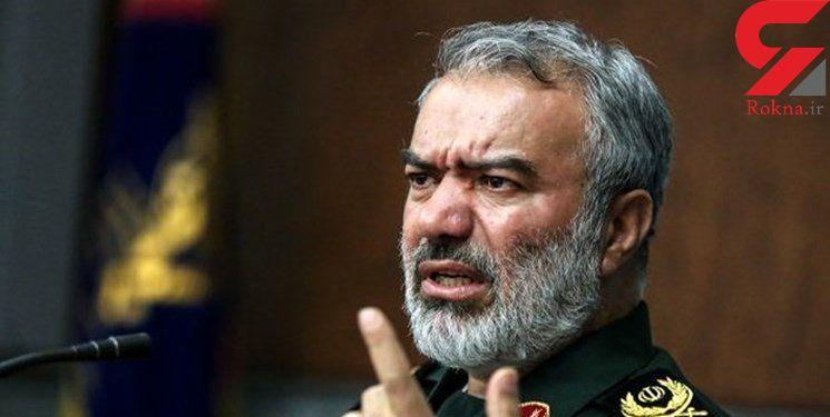 روایت سردار فدوی از اغتشاشات در ۱۰۰ شهر ایران
