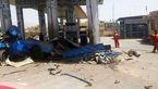 نیسان آبی در جایگاه سوخت CNG ایوانکی منفجر شد +عکس