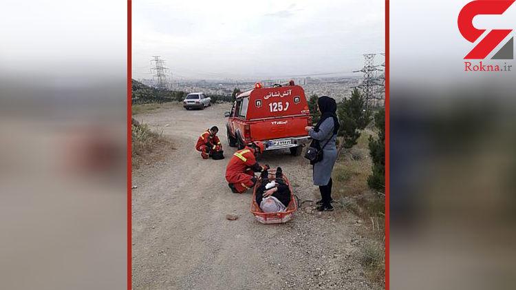 سقوط بانوی مسن به دره 20 متری+عکس