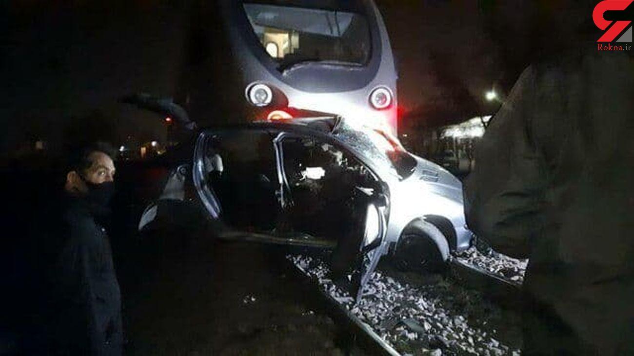 تصادف مرگبار قطار مسافربری با پژو 206 در کرج + جزئیات