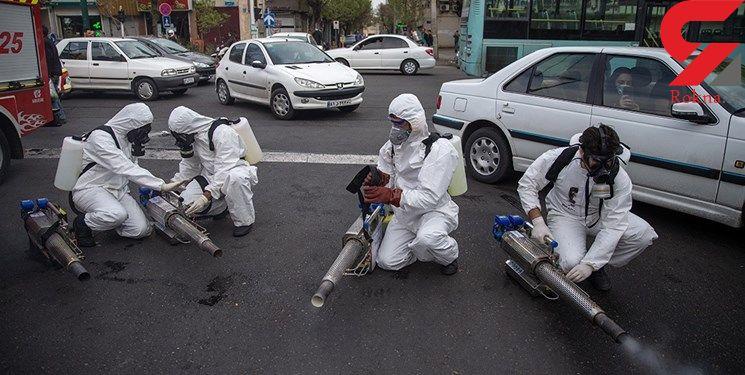 ضد عفونی خودروهای ورودی به شهر ملارد از ویروس کرونا