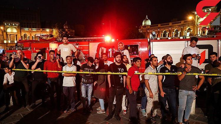 دلیل دیر گزارش شدن آتش سوزی میدان حسن آباد به آتش نشانی+فیلم
