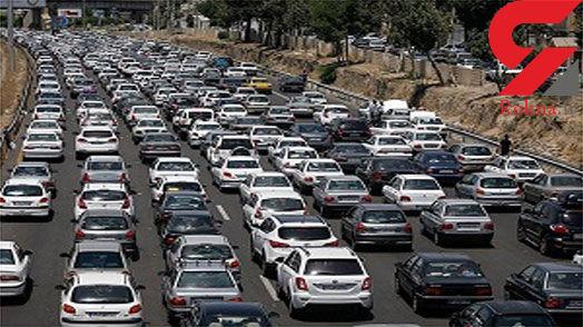 ترافیک در آزادراه تهران- کرج - قزوین سنگین است