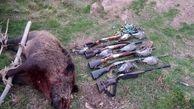 دستگیری شکارچی گراز در کرمانشاه