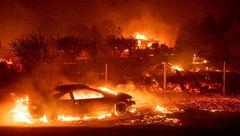 افزایش تلفات آتش سوزی کالیفرنیای آمریکا به ۴۴ نفر