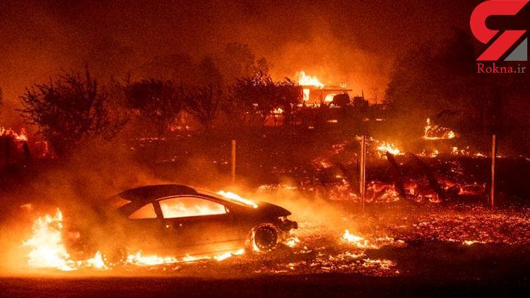 آتشسوزی کالیفرنیا دهها هزار نفر را ناچار به ترک خانه کرد