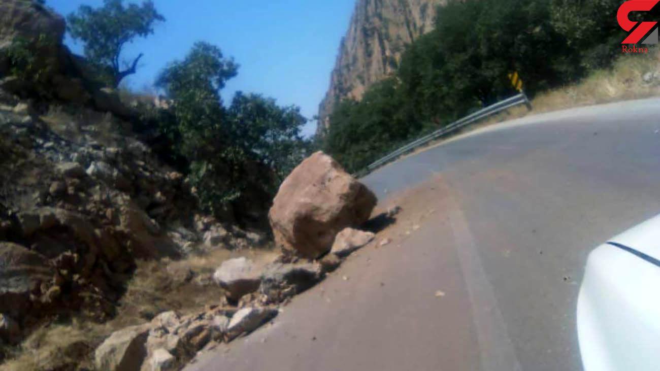 زلزله جاده گچساران را در هم کوبید + عکس