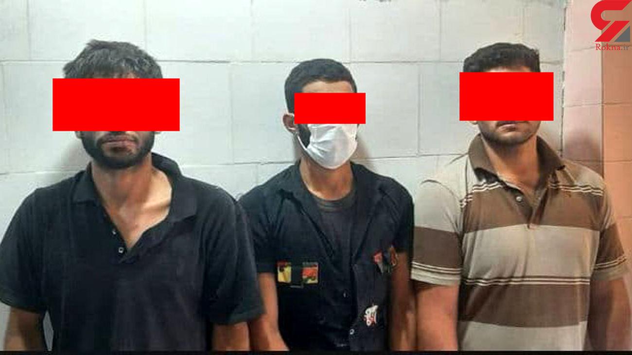 عکس 3 مرد خطرناک اهواز / همیشه تا دندان مسلح بودند