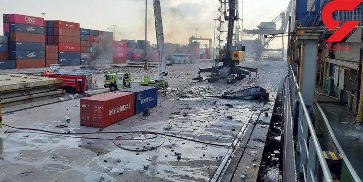 انفجار یک کشتی باری در یک بندر تایلند، ۲۵ زخمی بر جا گذاشت