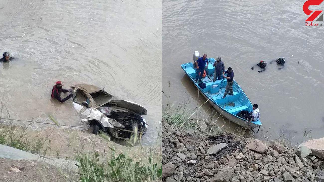 نجات معجزه آسای یک زوج پس از سقوط 206 به سد کرج + عکس و فیلم