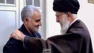 تصویری جدید از سردار سلیمانی در محضر رهبر انقلاب