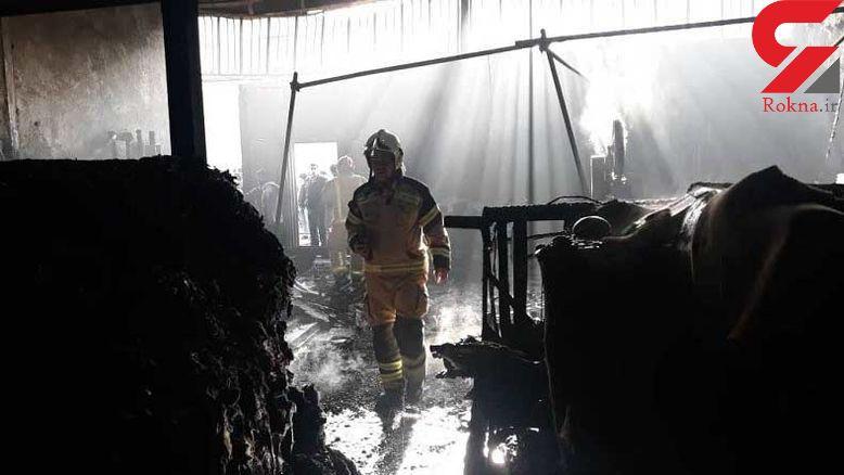 آتش سوزی وحشتناک در کارگاه مبل / 4 کارگر تهرانی سوختند + عکس و  فیلم
