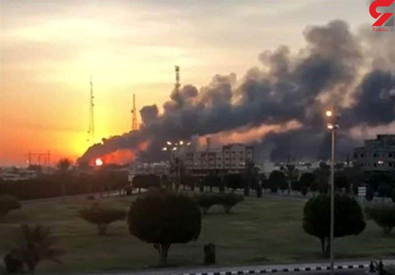 حمله موشکی به پایگاه نفتی عربستان / آتش سوزی بزرگ