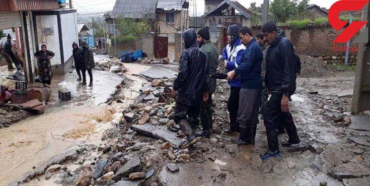 تخریب 30 واحد مسکونی براثر بارش باران در گلوگله+ فیلم و عکس
