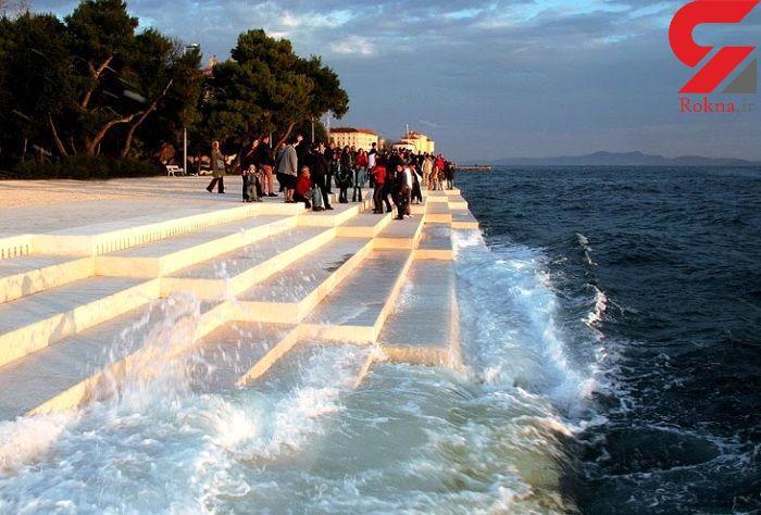 سازی که با امواج دریا به صدا در میآید